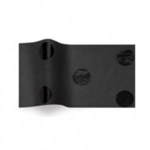 Folha de papel de seda preto com bolas pretas